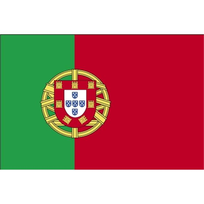 Annin Flagmakers 190304 4 ft. X 6 ft. Colonial Nyl-Glo Portugal Flag with Fringe by Annin Flagmakers
