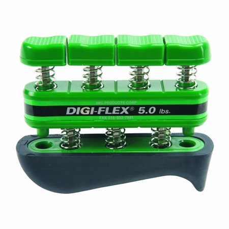Hand Therapy Exercises - Green Hand and Finger Exercise System, 5 lbs Resistance, The Digi-Flex hand therapy device develops isolated finger strength, flexibility and coordination as it builds.., By Digi-Flex