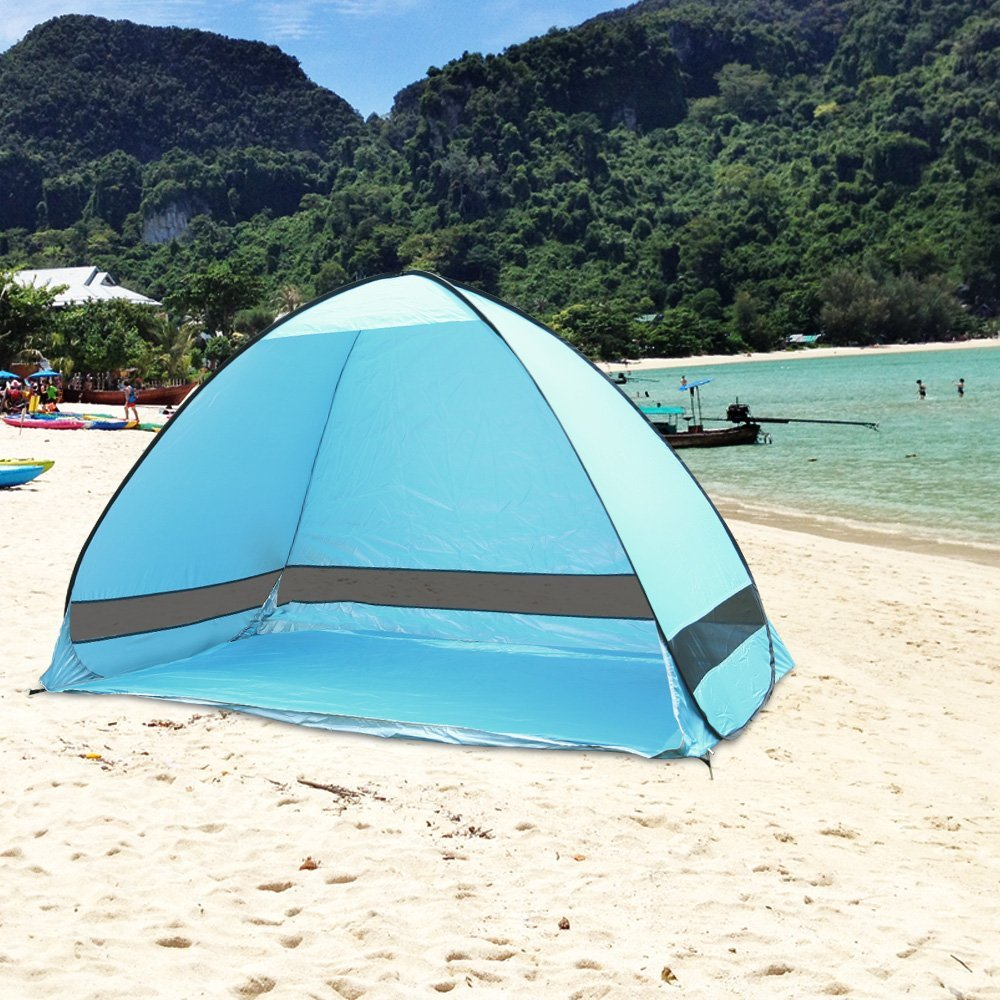 Automatic Pop Up Instant Portable Outdoors Beach Tent , Lightweight Portable Family Sun Shelter Cabana ,Provide UPF 50+... by