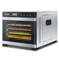 Cosori CP267-FD-RXS Premium Stainless Steel Food Dehydrator with Mesh Screen + Fruit Roll Sheet