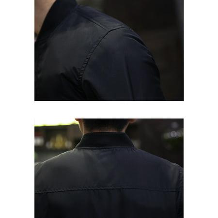 Men Outwear Coat Casual Warm Winter Baseball Long Sleeve Slim Fit Jacket