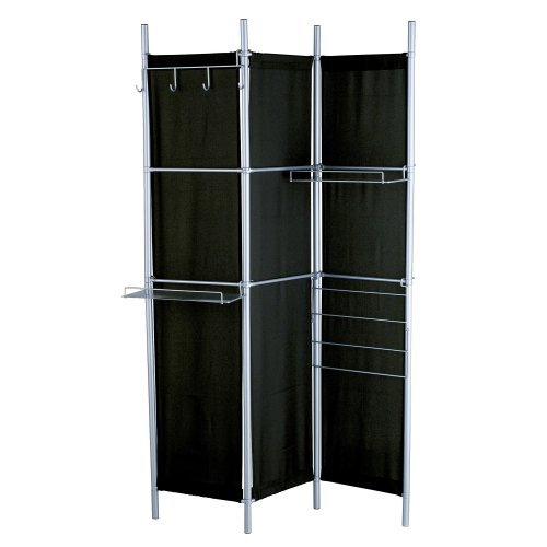Black Room Divider Hang It Up Screen - 48W x 71H in.