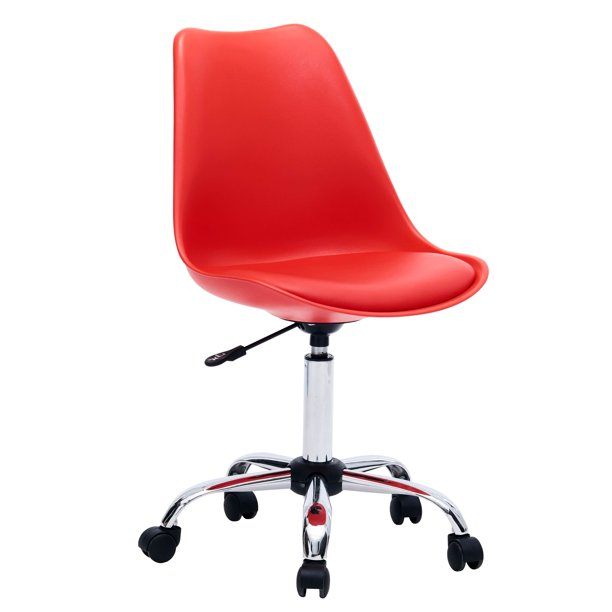 Porthos Home Adjustable Height Cushioned Seat Office Desk Chair With Chrome Base And Caster Wheels Easy Assembly Walmart Com Walmart Com