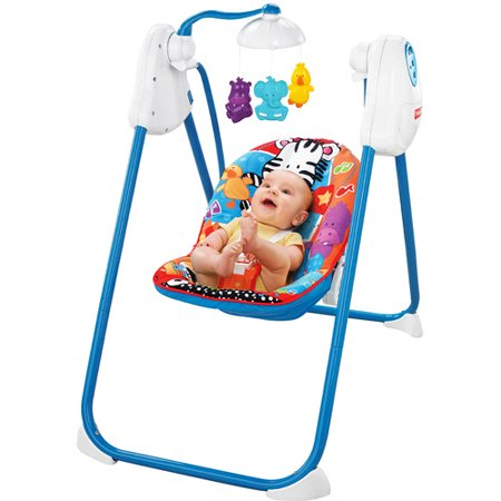 Fisher-Price - Adorable Animals Fold & Stow Swing - Walmart.com