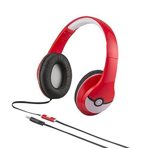 Pokemon iHome Over-The-Ear Headphones - Red/White