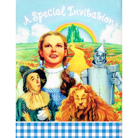 Wizard of Oz Vintage 1997 Invitations w/ Envelopes (8ct) (Wizard Of Oz Invitations)