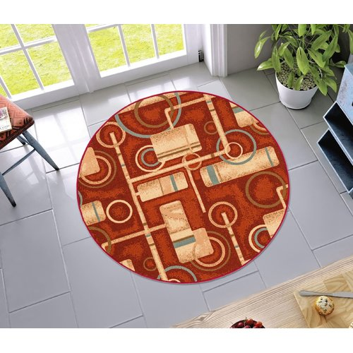 Well Woven Kings Court Prescott Modern Red Area Rug