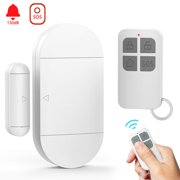 Reactionnx Door and Window Alarm, Wireless Door and Window Detectors with Remote Control and Batteries, Anti-Intrusion Anti-Theft Magnetic Sensor for Home and Kids Security System