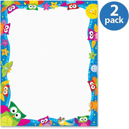 (2 Pack) Trend, TEPT11422, Owl - Stars Collection Terrific Papers - Letter, 50 / Pack