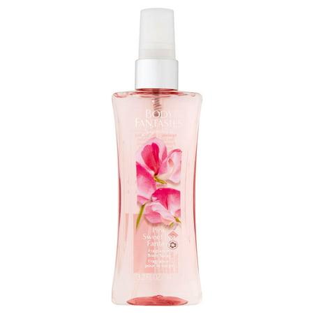 Body Fantasies Signature Pink Sweet Pea Fantasy Body Spray, 3 2 fl oz