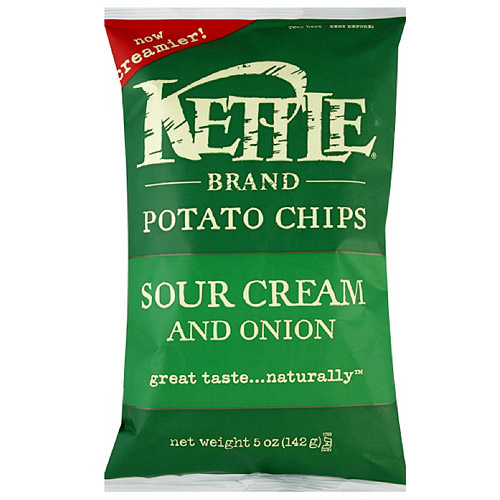 Kettle Brand Chips Sour Cream And Onion Potato Chips, 5 oz (Pack of 15)