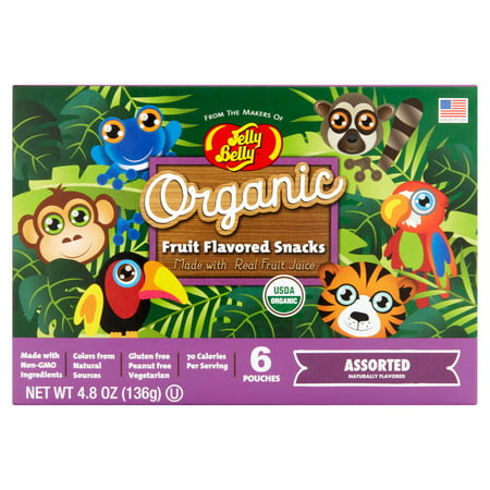 Jelly Belly, Organic Assorted Flavors Jelly Beans, 4.8 Oz, 6 Ct