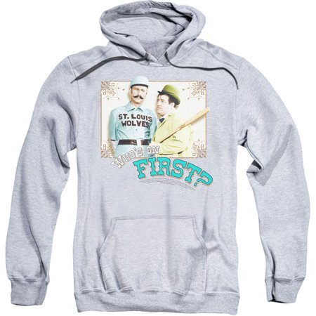 Abbott & Costello Who's On First Mens Pullover