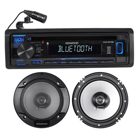 Kenwood KDC-BT22 CD Receiver w/Bluetooth/Android/iPhone+(2) 6.5