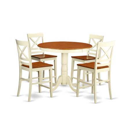 Counter Height Dining Pub Table 4 Chairs 44 White Finish