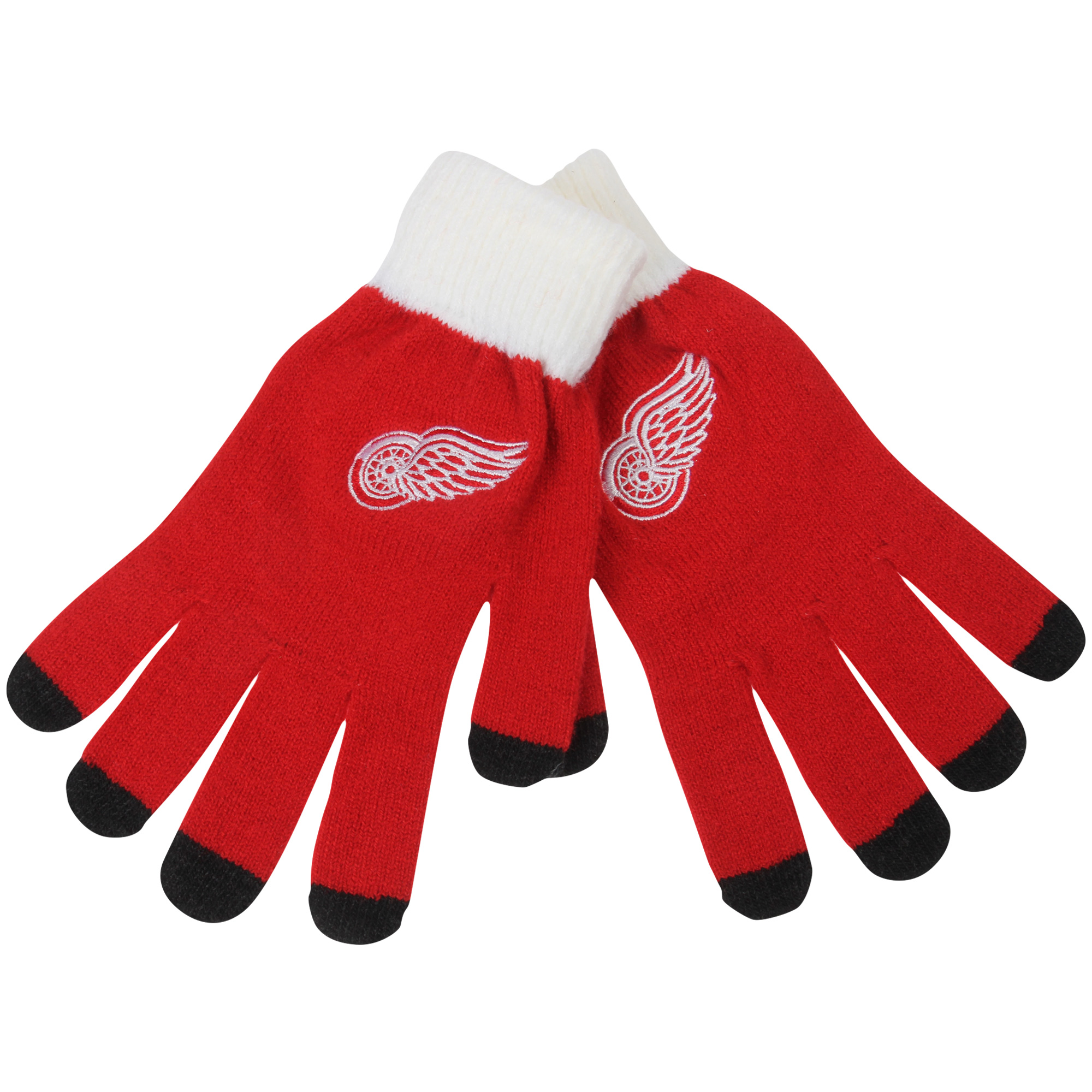 Detroit Red Wings Solid Knit Gloves No Size by TEAM BEANS INC/FOREVER COLLECTIBLES