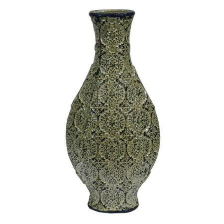 Antiques Persian Vase - Benzara EN30846 Antiqued Ceramic Vase