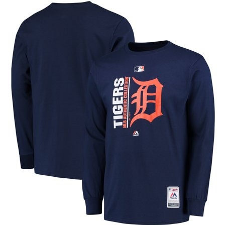 Detroit Tigers Majestic Authentic Team Icon Long Sleeve T-Shirt - (Detroit Tigers Long Sleeve)