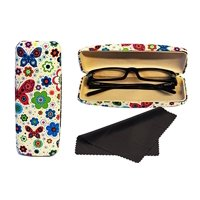 Glasses Case Hard Shell Holder For Reading Eyeglasses Eyewear W/ Cleaning Cloth