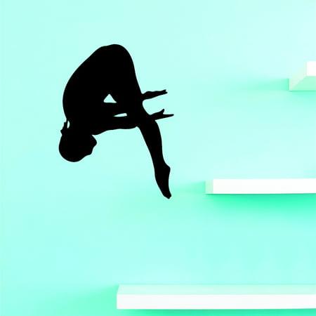 Custom Wall Decal Diving Swimmer Swim Team Sports Girl Boy Vinyl Wall