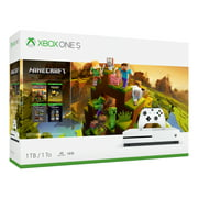 Microsoft Xbox One S 1TB Minecraft Creators Bundle, White, 234-00655