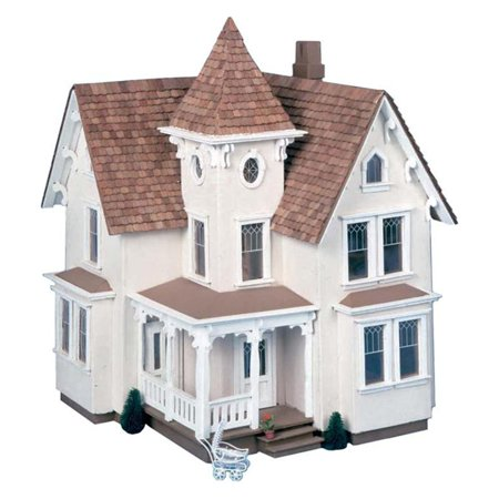 Scale Two Story House - Greenleaf Fairfield Dollhouse Kit - 1/2 Inch Scale