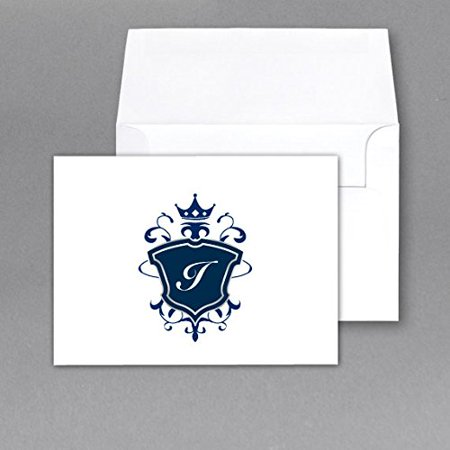 monogram note card stationery set size 4 x 6 with matching a6