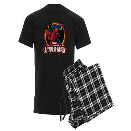 CafePress - Ultimate Spiderman - Men's Dark Pajamas - Spiderman Onesies For Adults