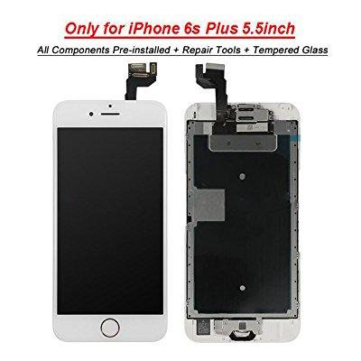 for iphone 6s plus lcd screen touch digitizer full assembly replacement  with 3d touch panel, home button, front camera, ear speaker, repair tools,  not