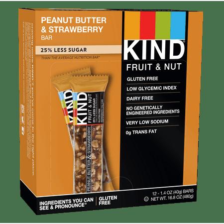 Kind Gluten Free Bars  Peanut Butter   Strawberry  12 Ct