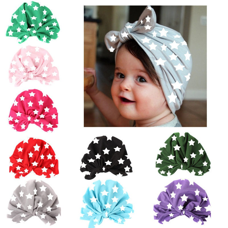 Cute Kids Girl Baby Toddler Bowknot Hat Headband Hair Band Accessories Headwrap