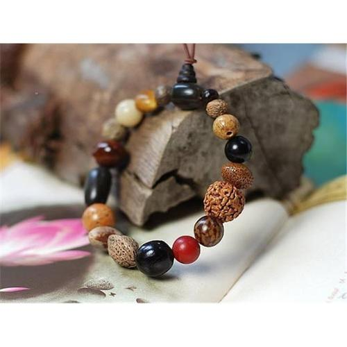 Merit 11331 18 Natural Bodhi Beads Bracelet