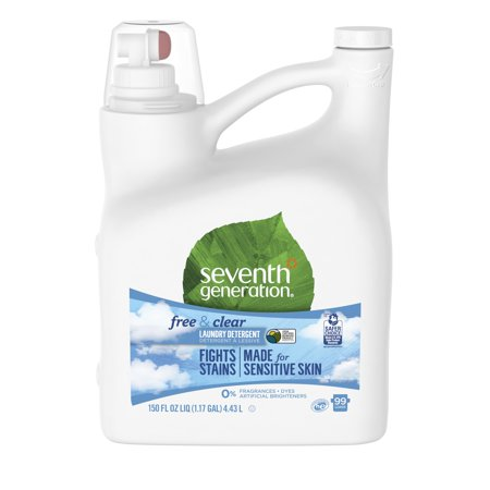 Seventh Generation Liquid Laundry Detergent for Sensitive Skin Free & Clear 150 oz