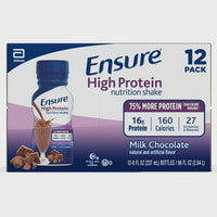 Ensure High Protein Nutritional Shake with 16g of High-Quality Protein, Ready-to-Drink Meal Replacement Shakes, Low Fat, Milk Chocolate, 8 fl oz, 12 Count
