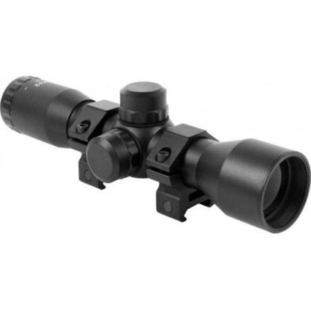 AIM Sports Tactical 4x32 Compact Riflescope w/ Mil-Dot Reticle & Rings -