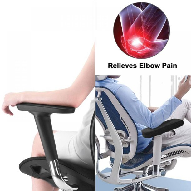 Chair Armrest Pads (2 Pack) Memory Foam Home/Office Chair Arm