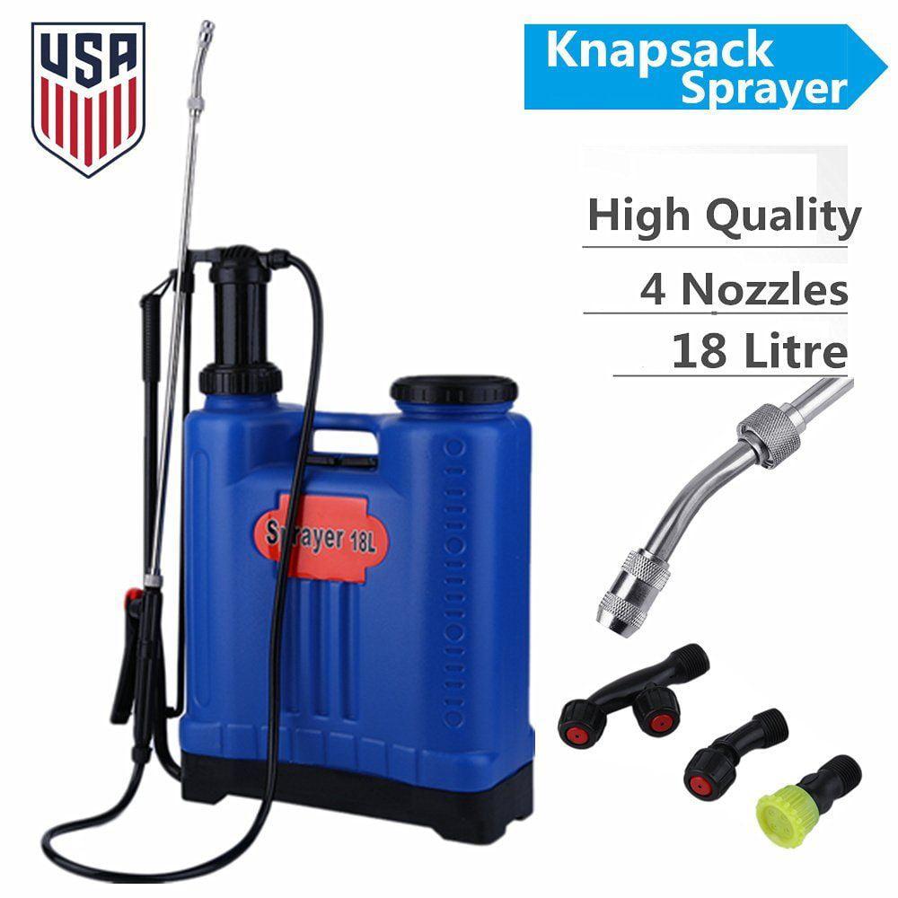 Professional 4.8 Gallon Backpack Pesticide Fertilizer Garden Sprayer Weed Killer by