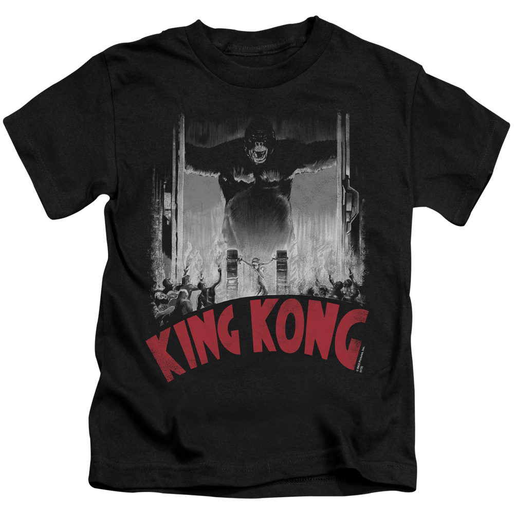 King Kong At The Gates Poster Little Boys Juvy Shirt