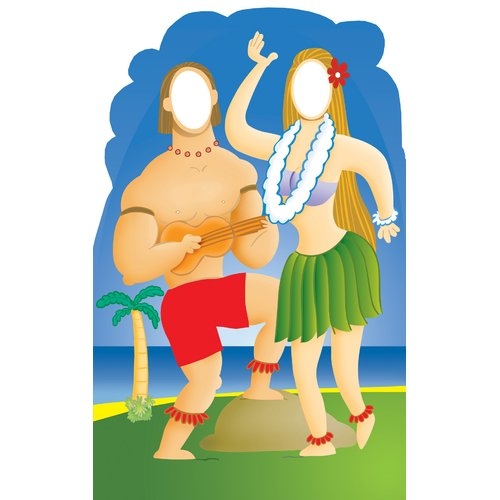 Advanced Graphics Life-Size Stand-Ins Hawaiian Couple Cardboard Stand-Up
