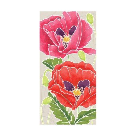 Sunshine Poppies - Sunshine Poppies Panel II Print Wall Art By Elyse DeNeige
