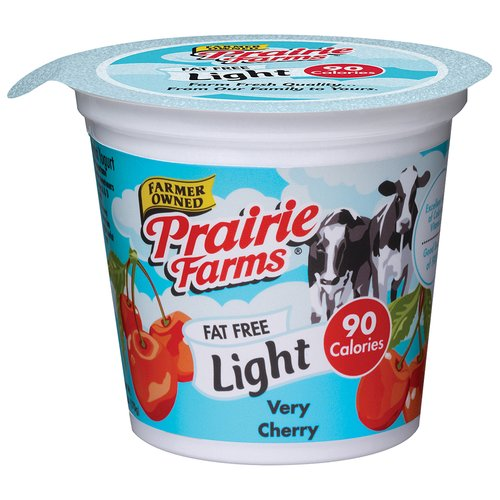 Prairie Farms Light Very Cherry Pudding Yogurt, 6 oz