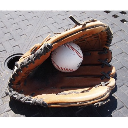 - Framed Art for Your Wall Sports Ball Shadow Catch Baseball Glove Equipment 10x13 Frame