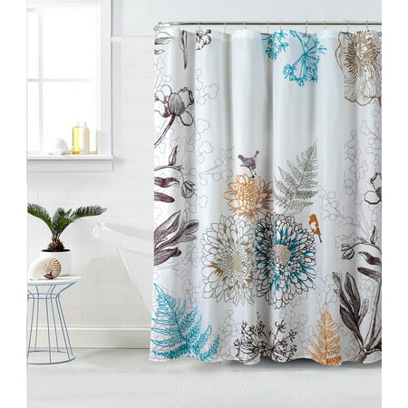 Style Quarters Aviary Floral And Birds Shower Curtain