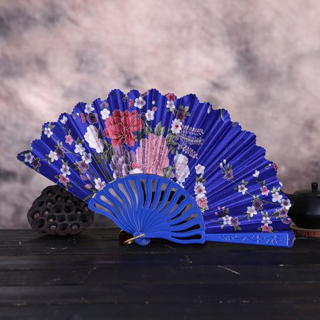 BEAD BEE Best Chinese Style Dance Wedding Party Lace Silk Folding Hand Held Flower