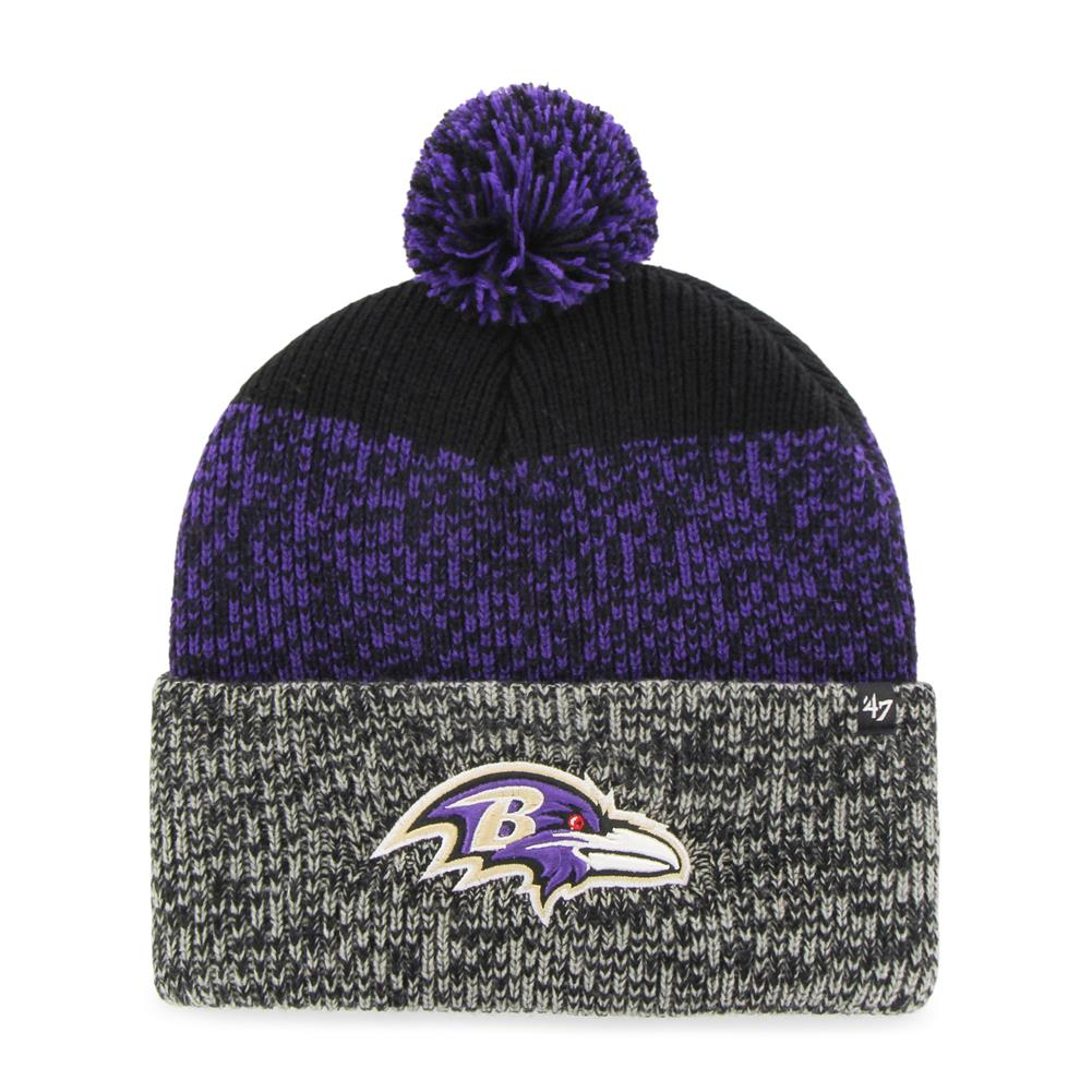 Baltimore Ravens Beanie Static Cuff Knit Hat by '47 Brand