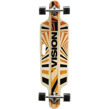 "Vision 37"" Drop-Through Longboard Complete Skateboard (37"" x 10"")"