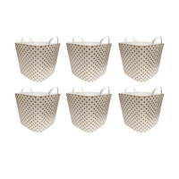 Life Story 25 Liter Plastic Home Storage Container Bin Tub Basket, Gold (6 Pack)