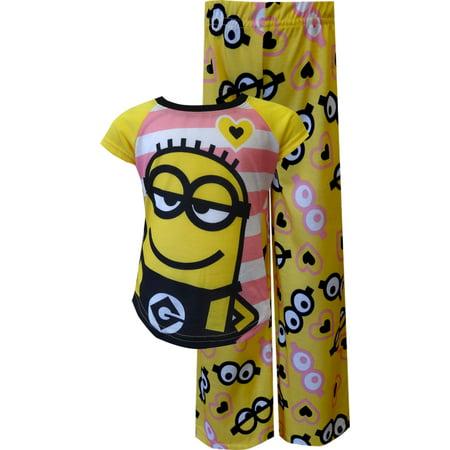 2 Minions Striped Pajama](Onesie Minion)