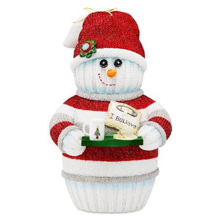Pavilion Gift Company 93005 I Believe Snowman Holding Cookie Tray
