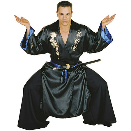 Black Samurai Adult Halloween Costume - Samurai Warrior Halloween Costume